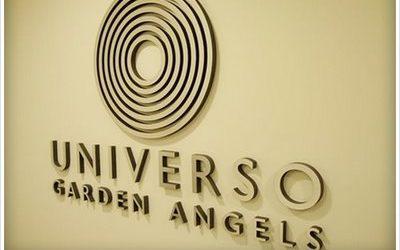 letras y logo corpóreas universo garden angels rotulo