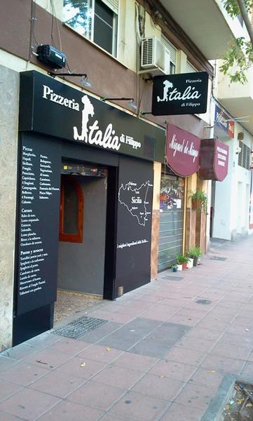 rótulos pizzeria italia di filippo en castellón