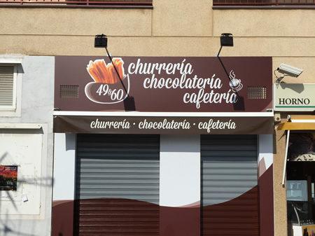 rotulacion churreria chocolateria cafeteria castellón