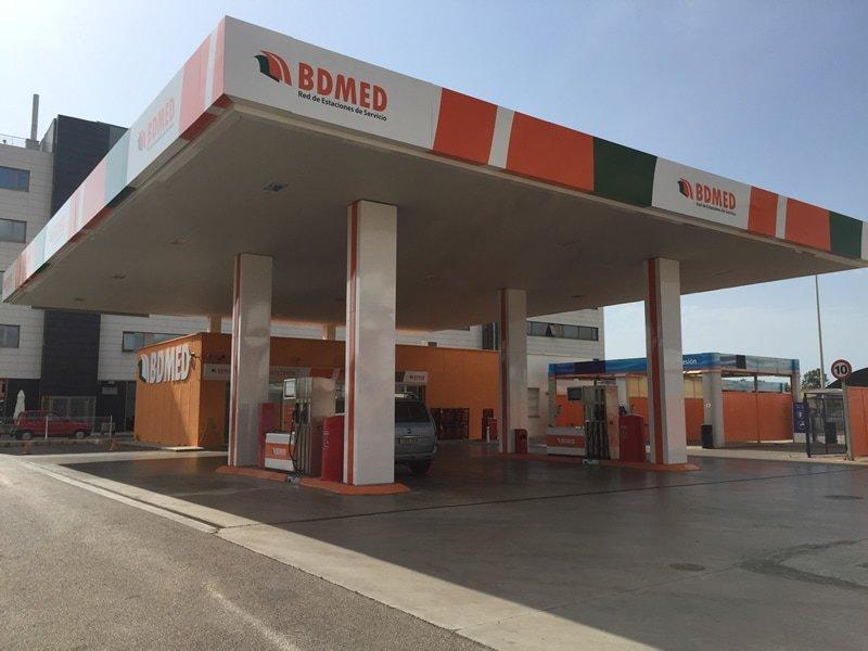 rótulo para gasolineras bdmed red de estaciones de servicio