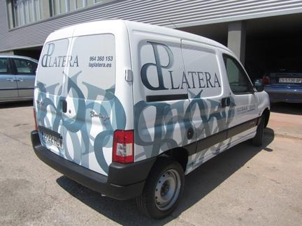 vinilo para furgonetas platera empresa ceramica alcora