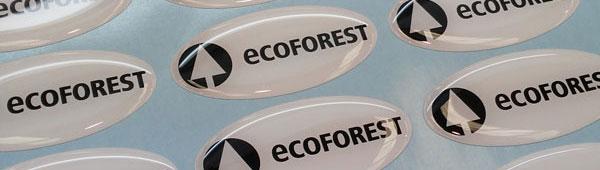 pegatina ecoforest 3d con resina epoxi pvc