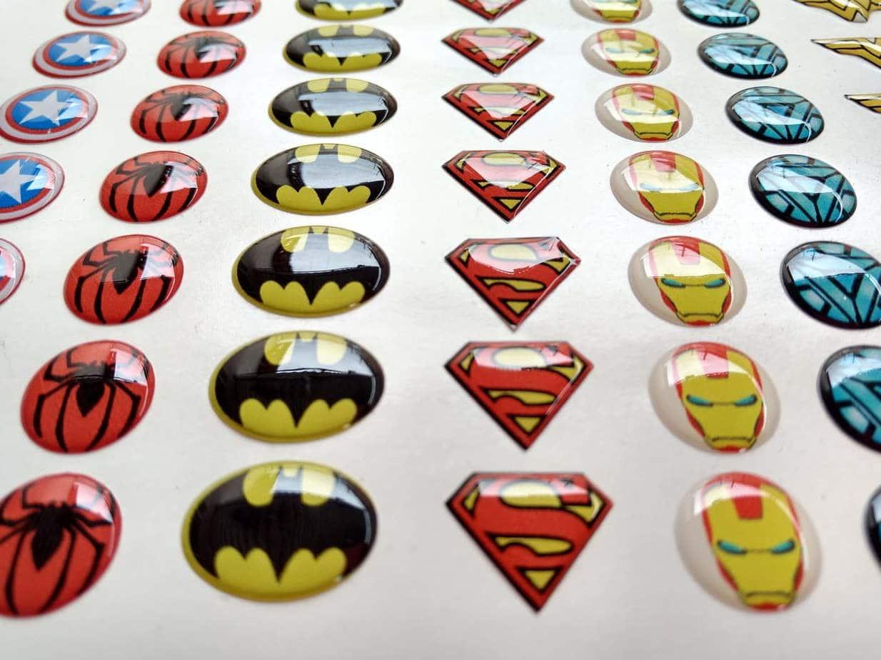 adhesivos de gota resina superheroes grupo cubero