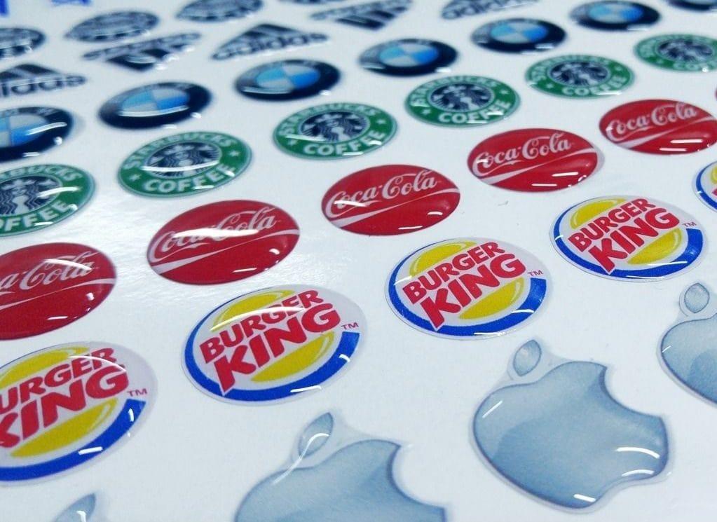 adhesivos de gota resina pvc diseño personalizado