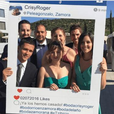 marco instagram para hacerse fotos en fiestas y eventos