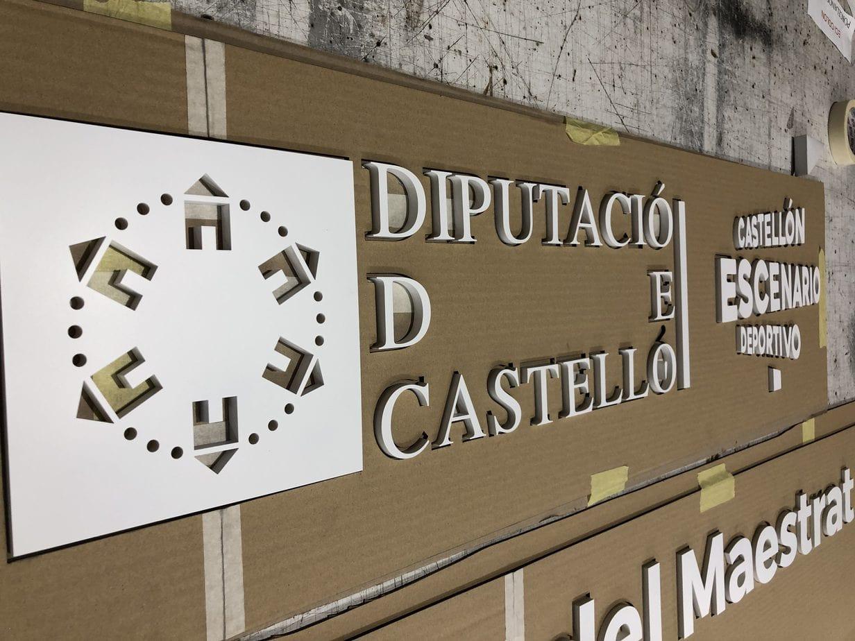 diputacio de castello metacrilato panel