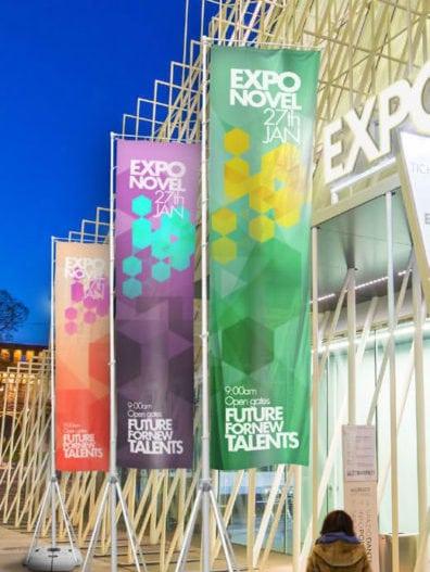 Displays Publicitarios 5m altura exposiciones